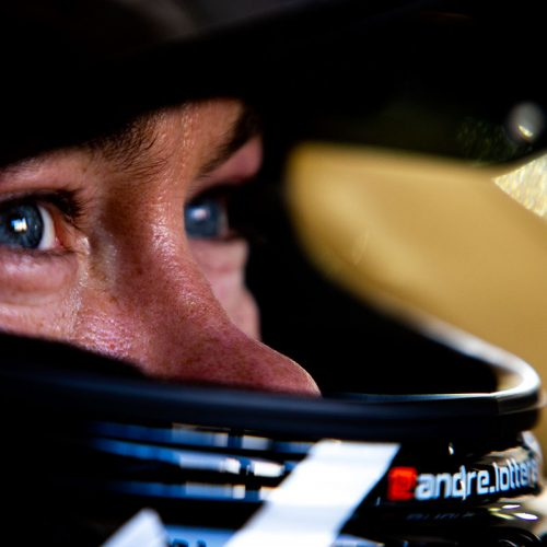 André Lotterer close up in helmet