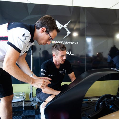 DS TECHEETAH Engineer and James Rossiter at testing