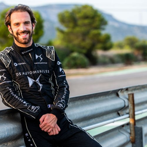 Jean-Éric Vergne in DS Performance test racing suit
