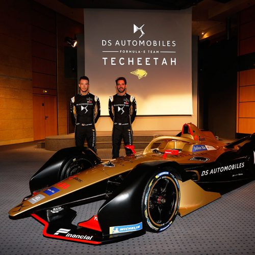 André Lotterer and Jean Éric Vergne with the DS E-TENSE FE19
