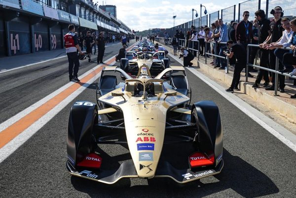 DS TECHEETAH Formula E car on race track