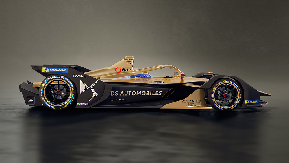 DS TECHEETAH car with Atlantis Sanya livery