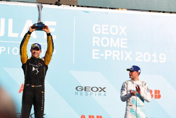 Andre Lotterer on the podium in Rome